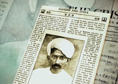 Ahimsa Gandhi in US Print